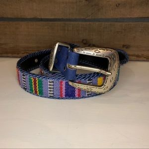 Elite Brand Aztec Embroidered Colorful Belt Sz L